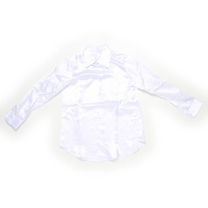 ダンス 衣装 サテンシャツ ホワイト