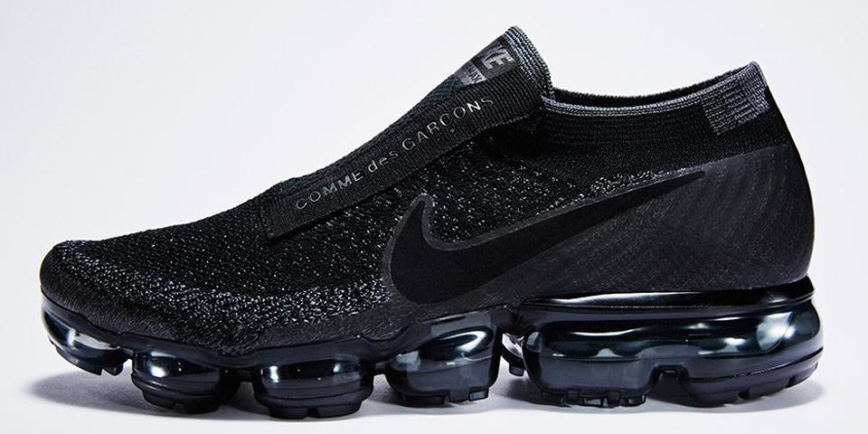 Comme De Garcons Black Slip Shoes