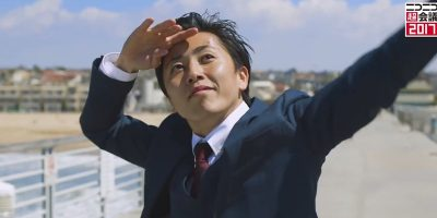 JALのイケメン社員岡本さんが再びキレキレのダンスを披露。今年も「本気のJAL」を見せつける。